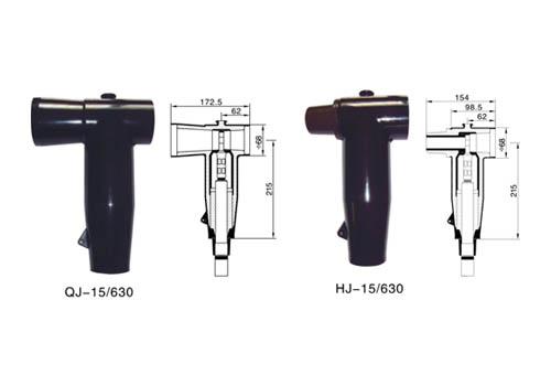 产品说明: 10kv欧式前/后电缆接头 可触摸前/后接头应用于环网柜,分